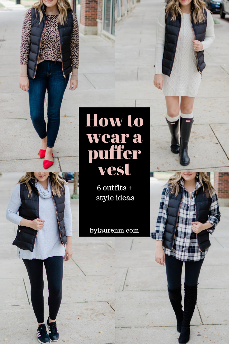 six puffer vest outfits - how to wear a puffer vest plus the best puffer vest outfit ideas! bylaurenm.com