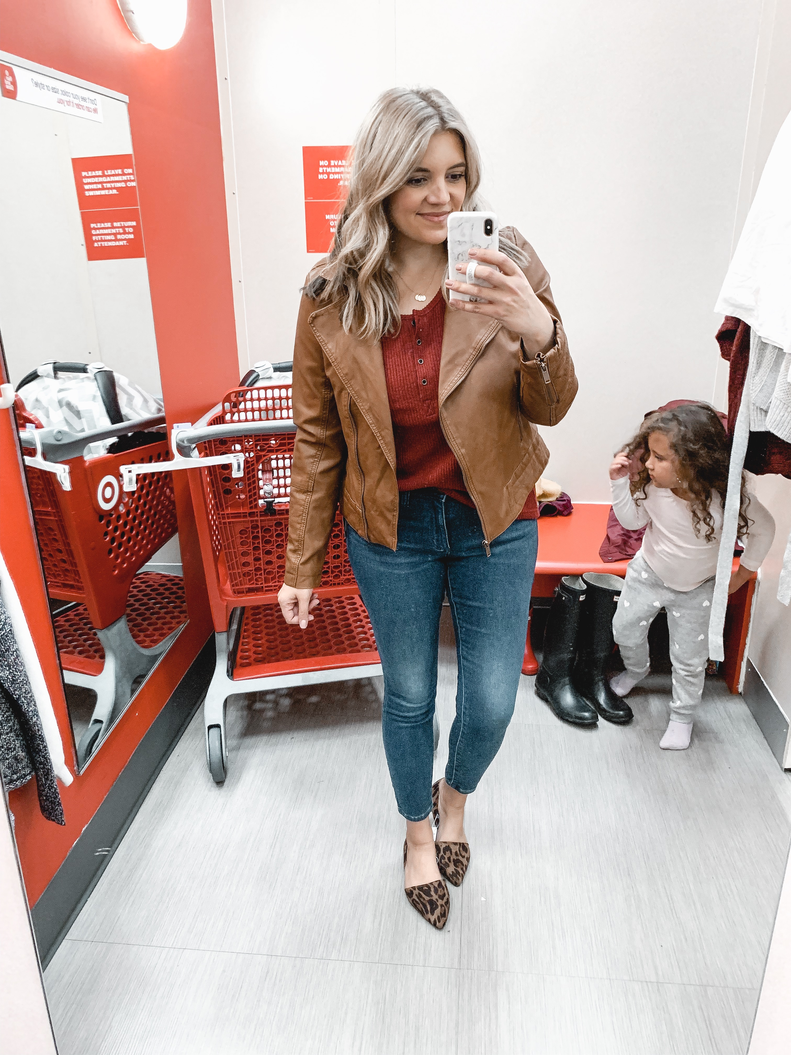 target faux leather moto jacket - november try try on session: over 15 items reviewed for fit and style! bylaurenm.com