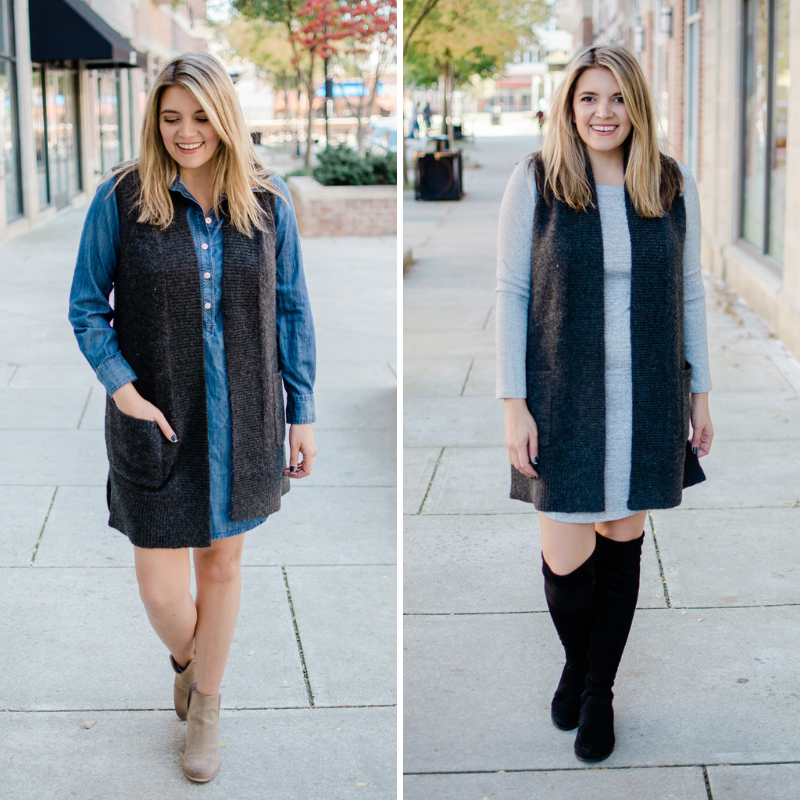 five sweater vest outfits - how to wear a sweater vest with five outfit formulas and nine outfits! bylaurenm.com