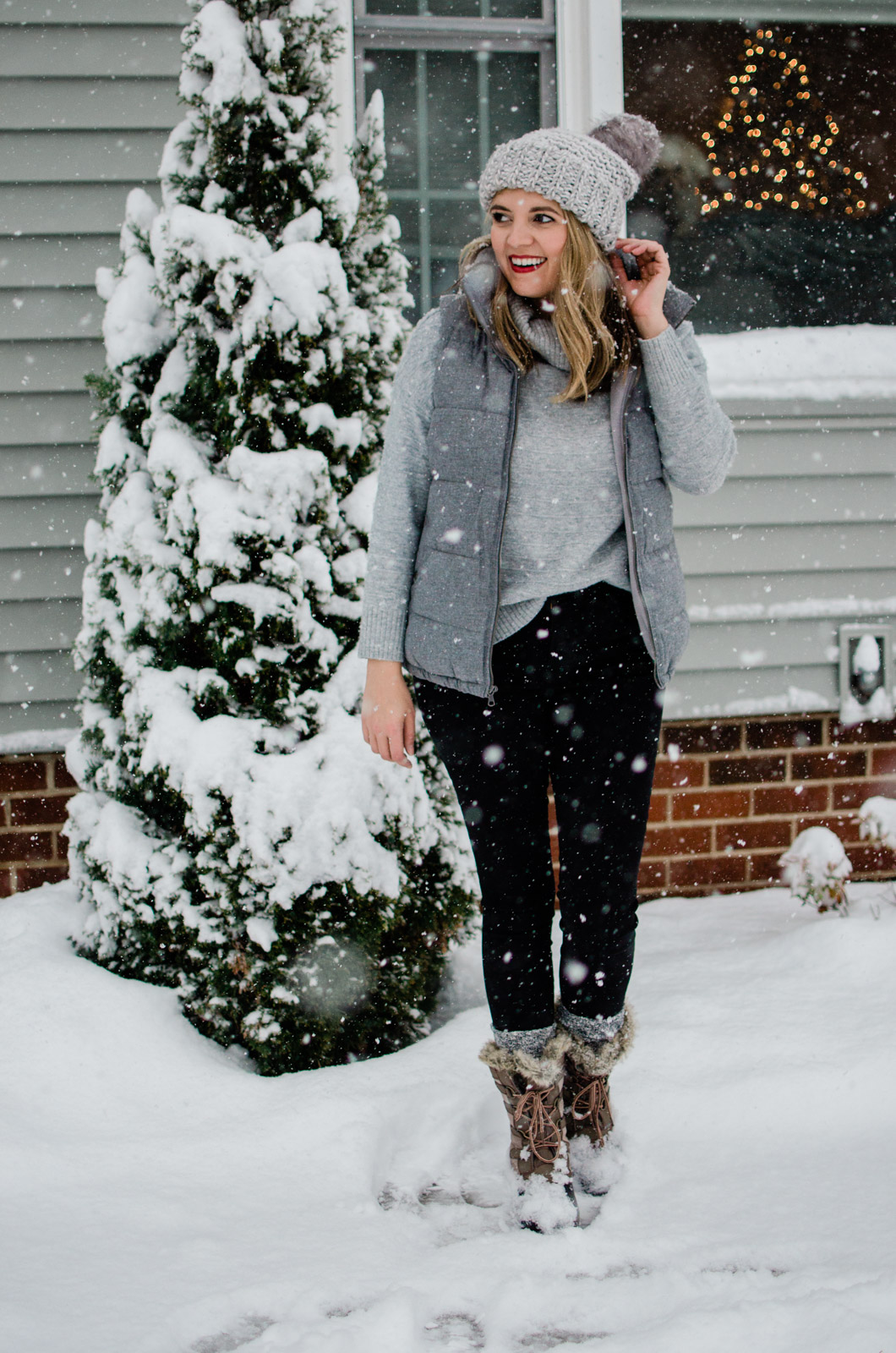 grey snow day outfit - five snow day outfits for winter! bylaurenm.com