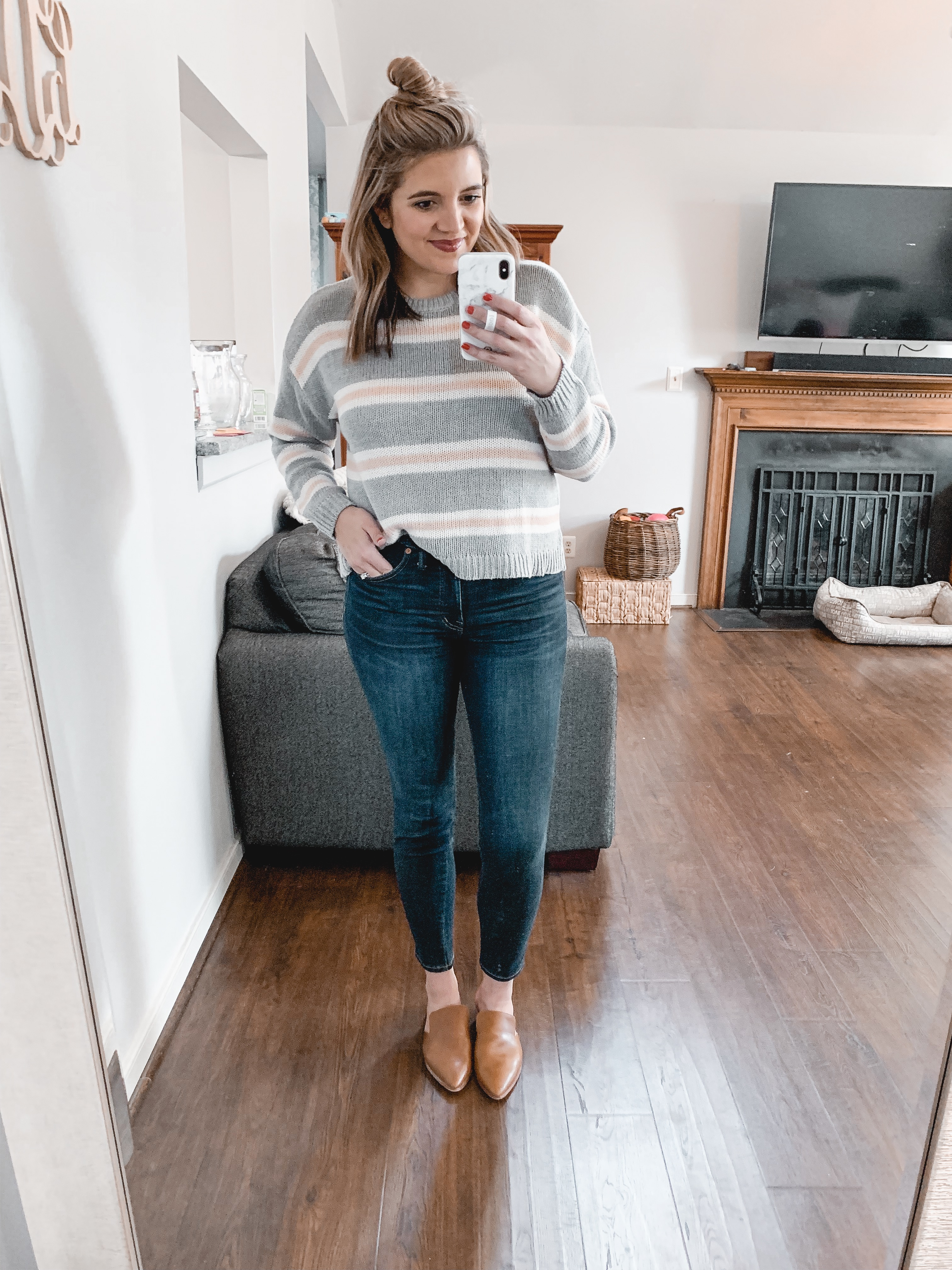 Affordable style blogger, Lauren Dix shares a January American Eagle try on session with over ten winter outfits!