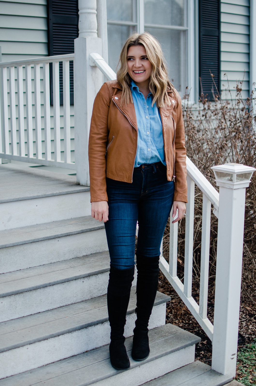 Richmond Virginia style blogger shares six over the knee boots outfits!