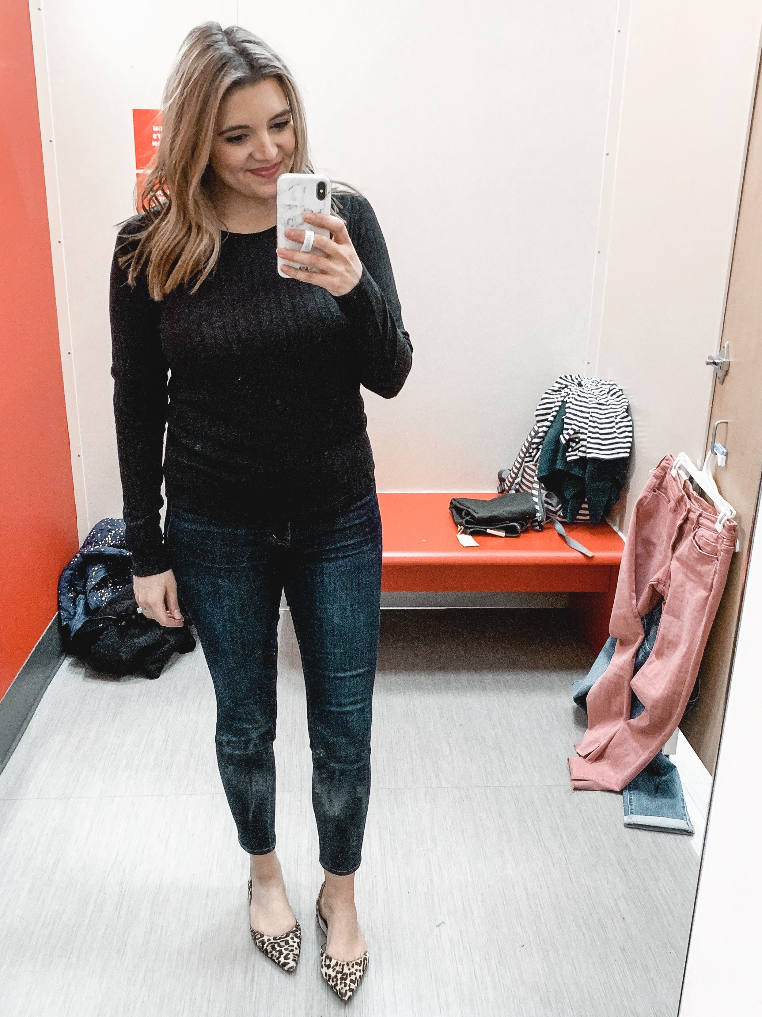 Affordable style blogger, Lauren Dix shares a February Target try on session with ten winter into spring outfits!