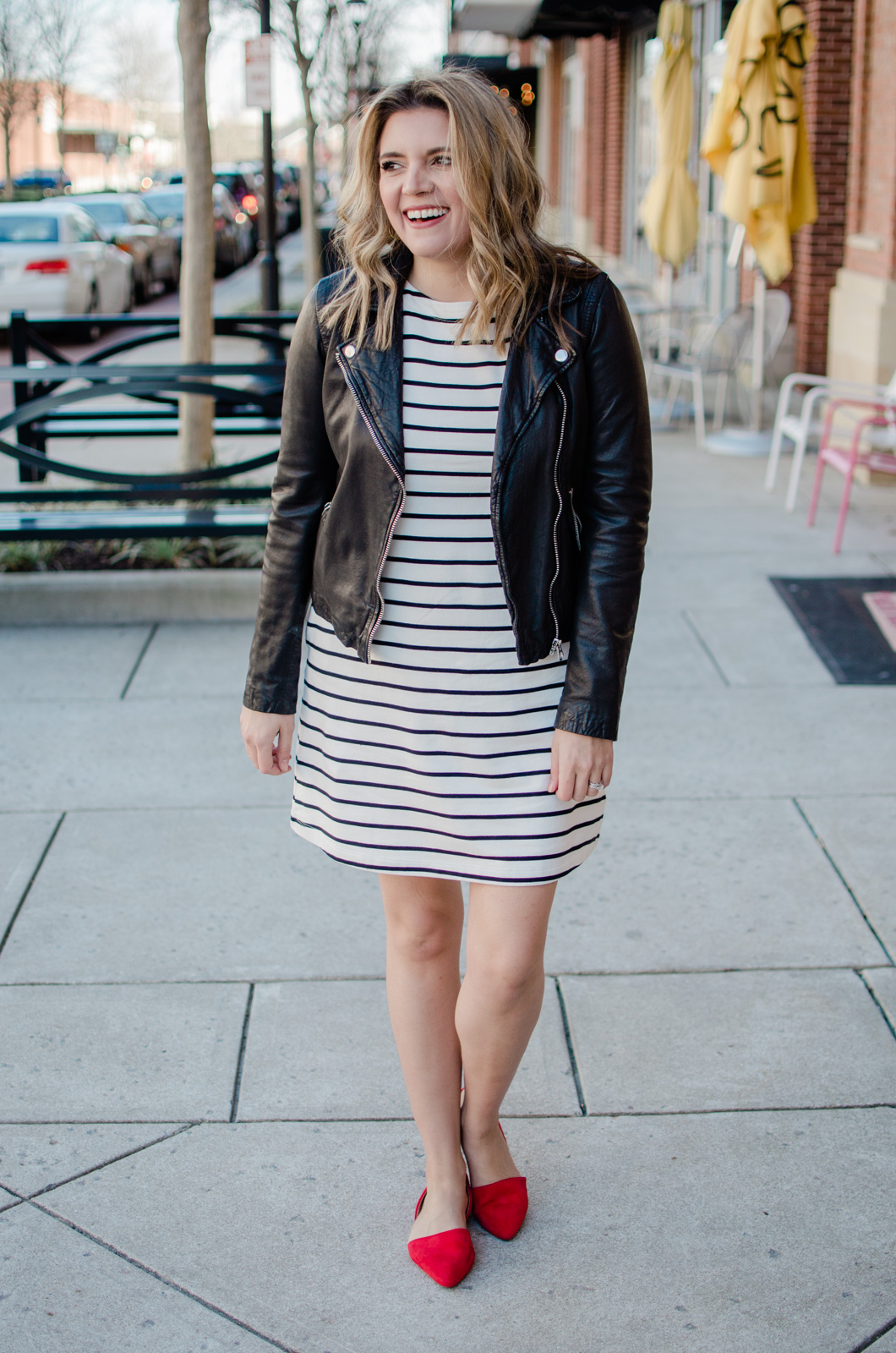Affordable style blogger Lauren Dix shares six stripe dress outfits for going into spring! Come see all the ways to wear this striped dress under $30!