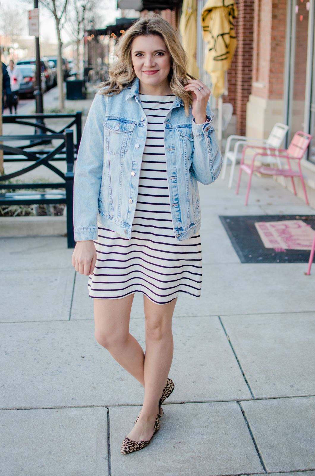 d21bbf2179f striped dress outfit spring | By Lauren M