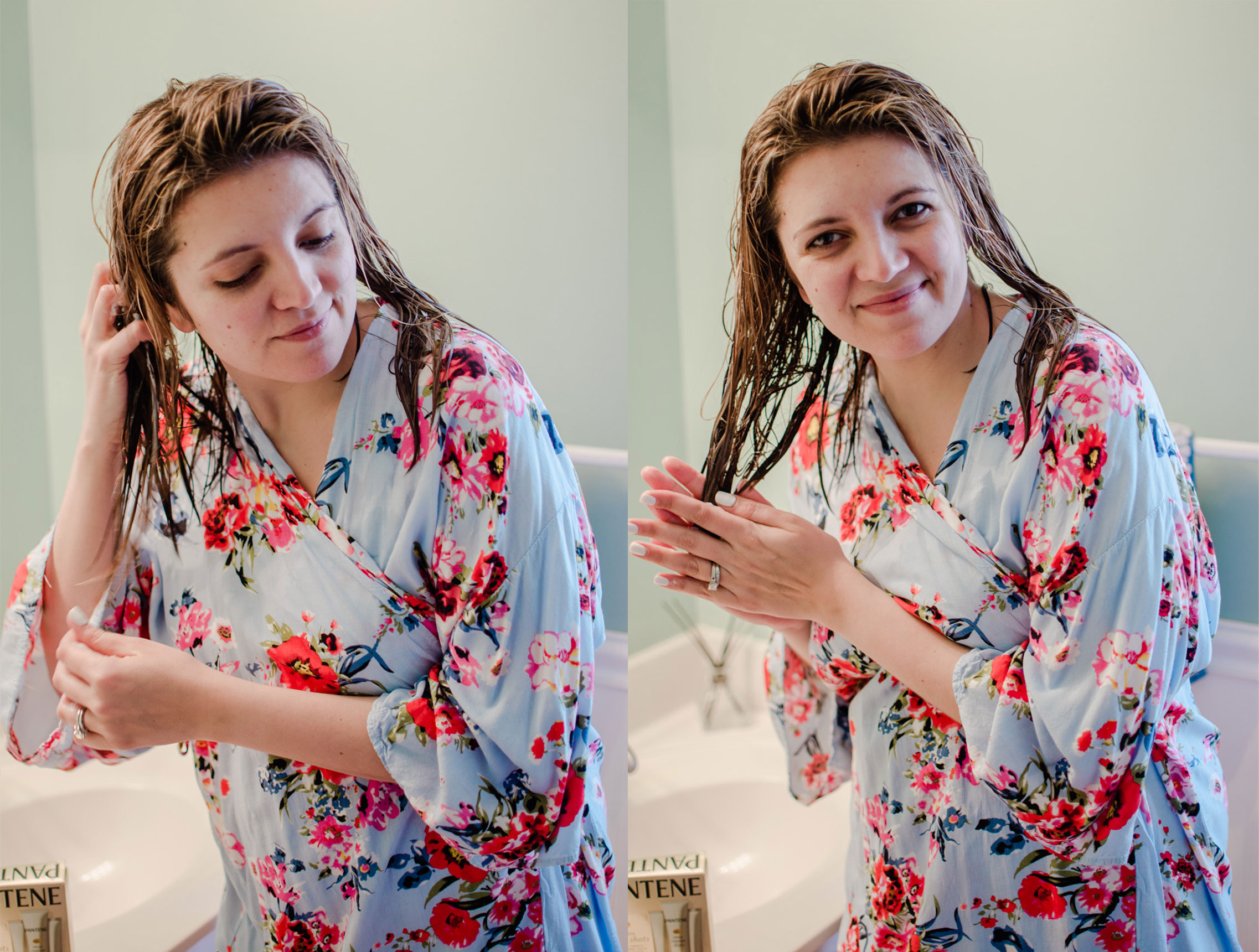 Richmond Virginia blogger, Lauren Dix, shares how she deep conditioners her hair using Pantene Intense Rescue Shots.