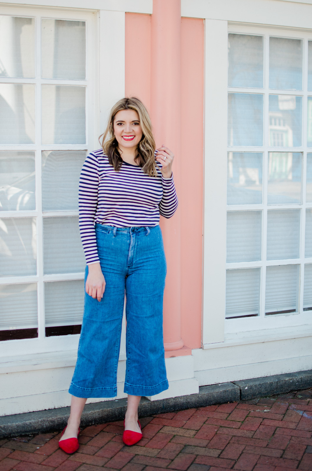 Richmond Virginia style blogger Lauren Dix shares three wide leg cropped jeans outfits for spring!