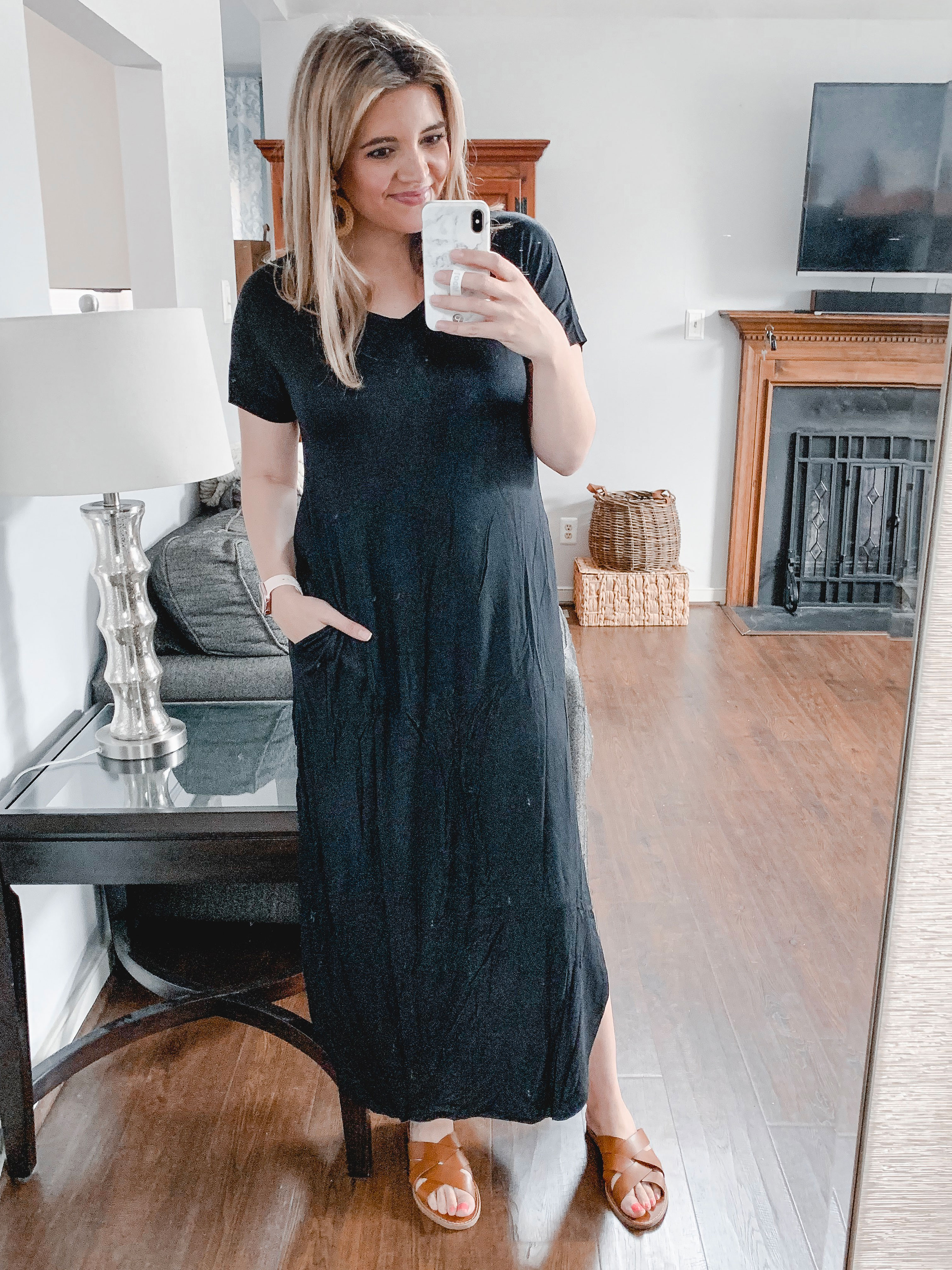 Affordable style blogger Lauren Dix tries on 10 black maxi dresses to find the very best amazon maxi dress under $35!