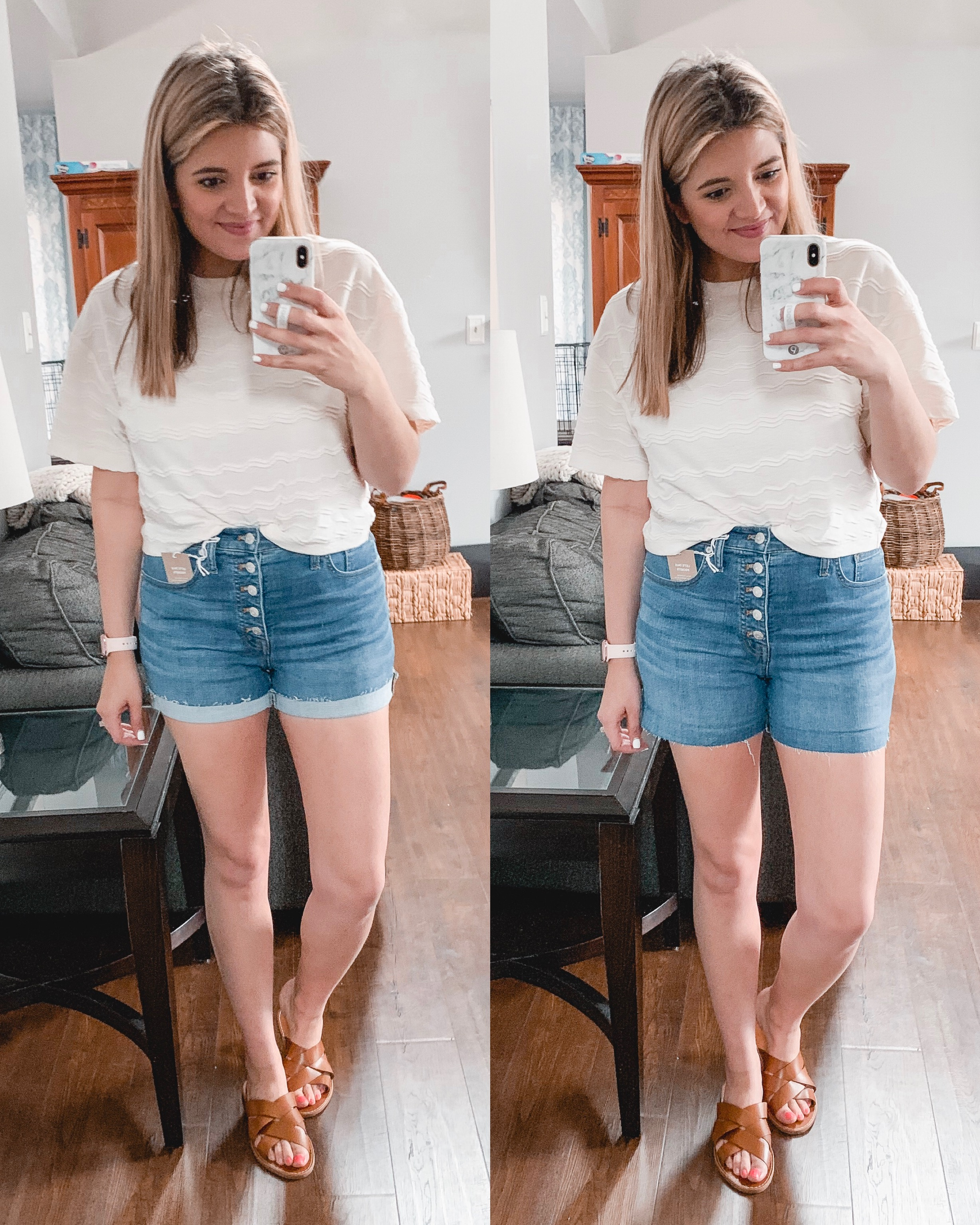 Richmond Virginia blogger Lauren Dix tries on and shares the best Madewell shorts of 2019! See all six pairs at bylaurenm.com!