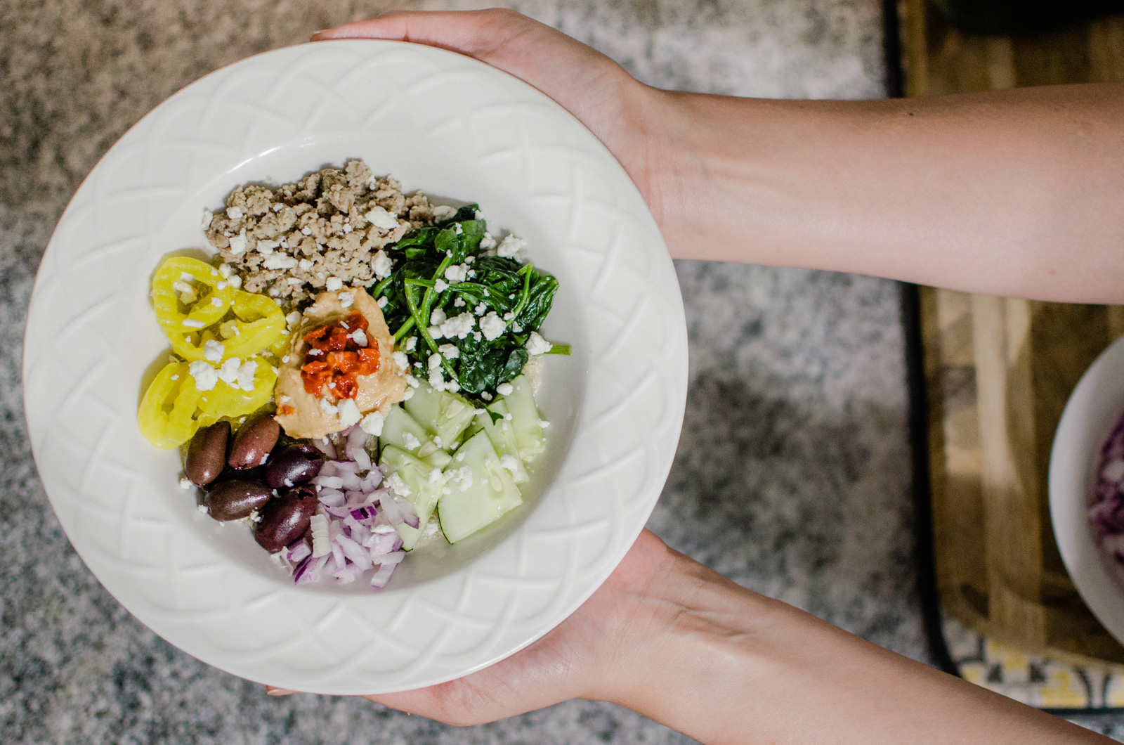 Virginia blogger, Lauren Dix, shares her top five favorite bowl recipes, including this delicious mediterranean bowl!