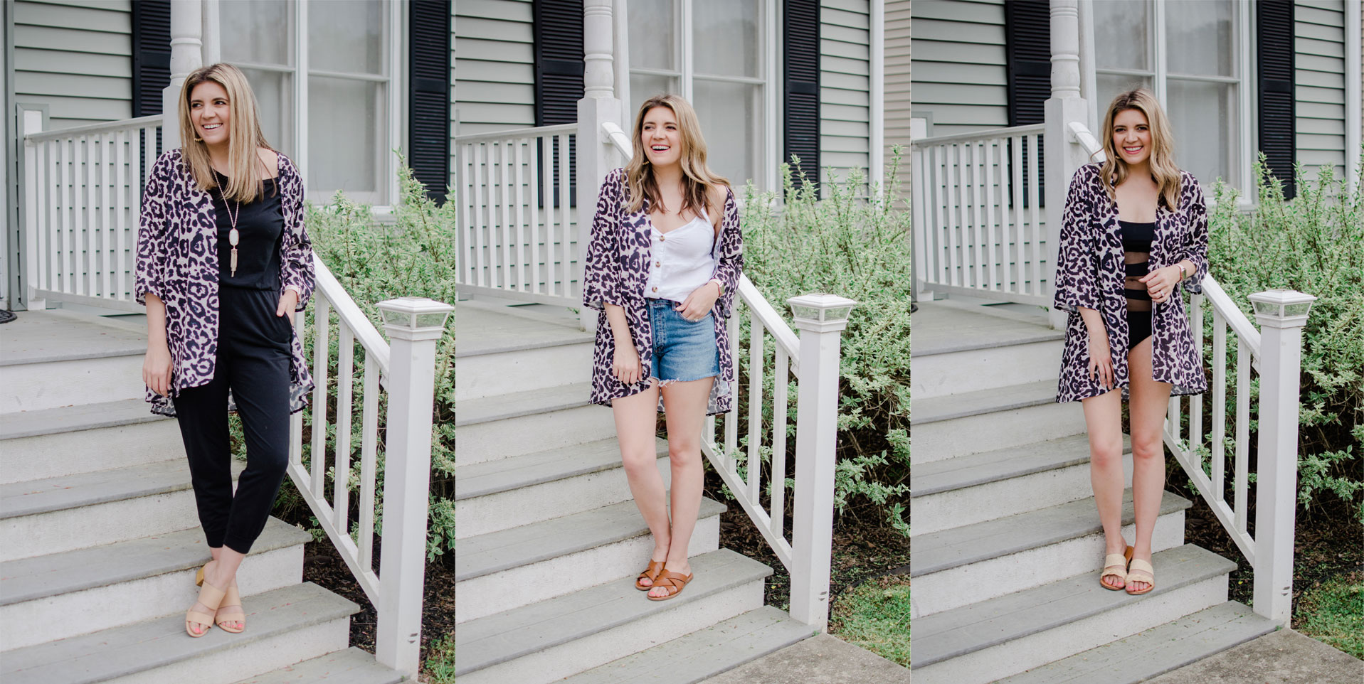 Virginia blogger, Lauren Dix, shares six kimono outfits for spring and summer.