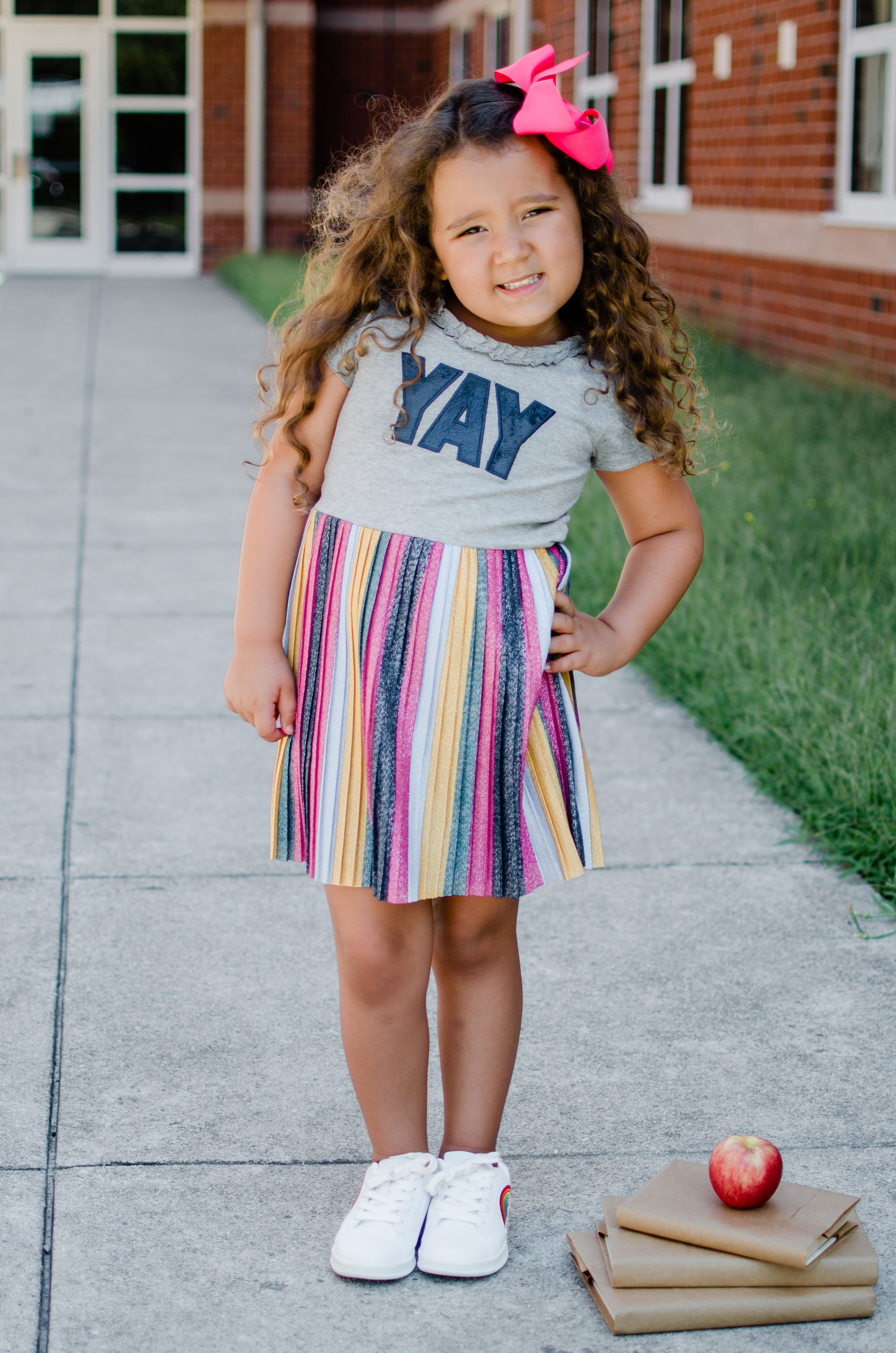 Virginia blogger, Lauren Dix, shares back to school outfits with her daughter Layla! See all the affordable kids options at bylaurenm.com!