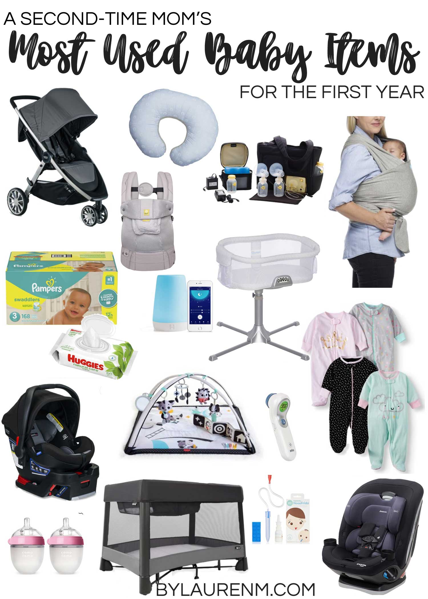 Second time mom, Lauren Dix, shares her most used baby items for the first year! From baby health to sleep necessities to feeding and everything in between, she covers it all in this post!