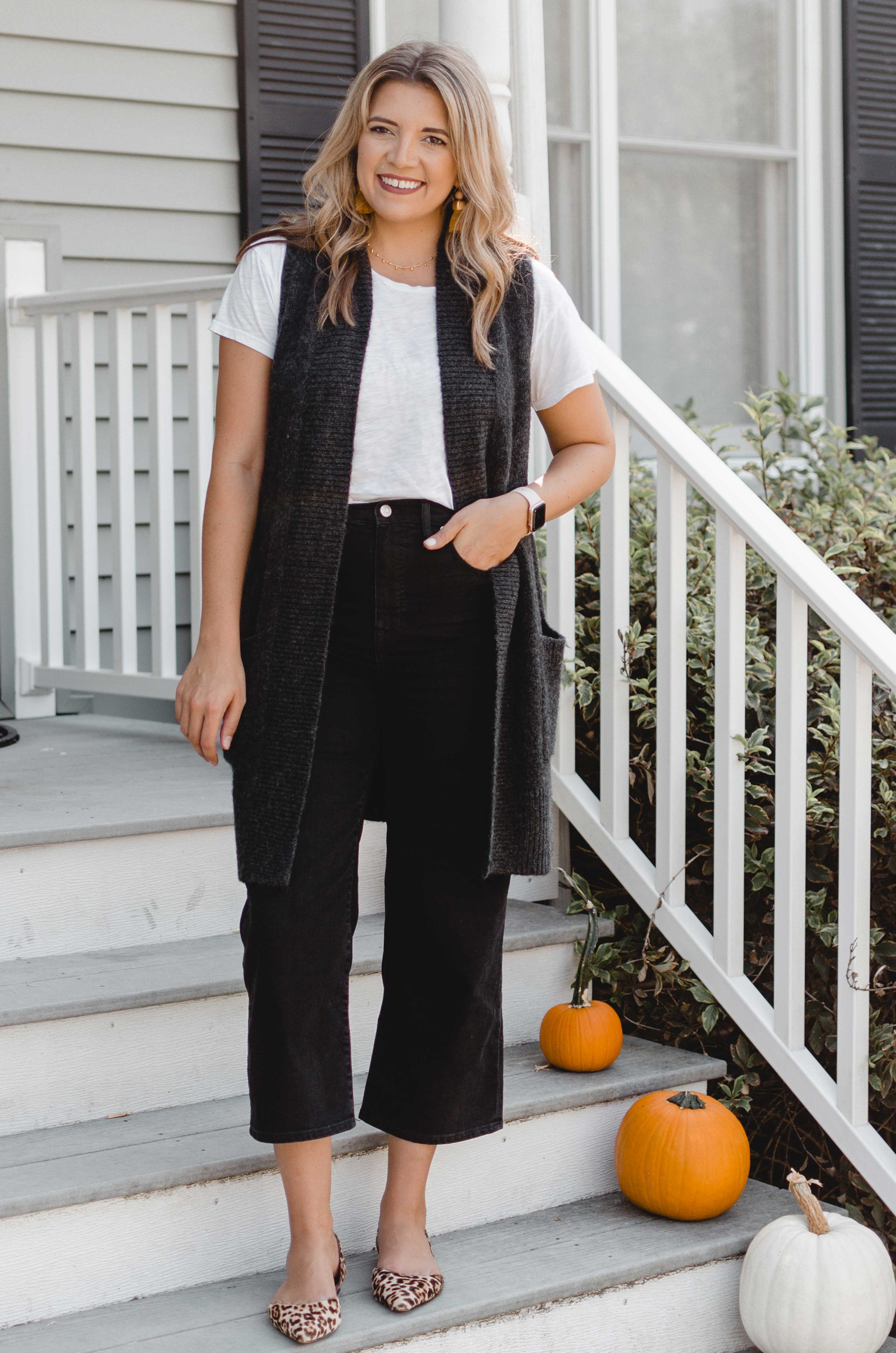 Virginia blogger, Lauren Dix, shares six wide leg cropped jeans outfits for fall. From work to weekend, see all the outfits here!