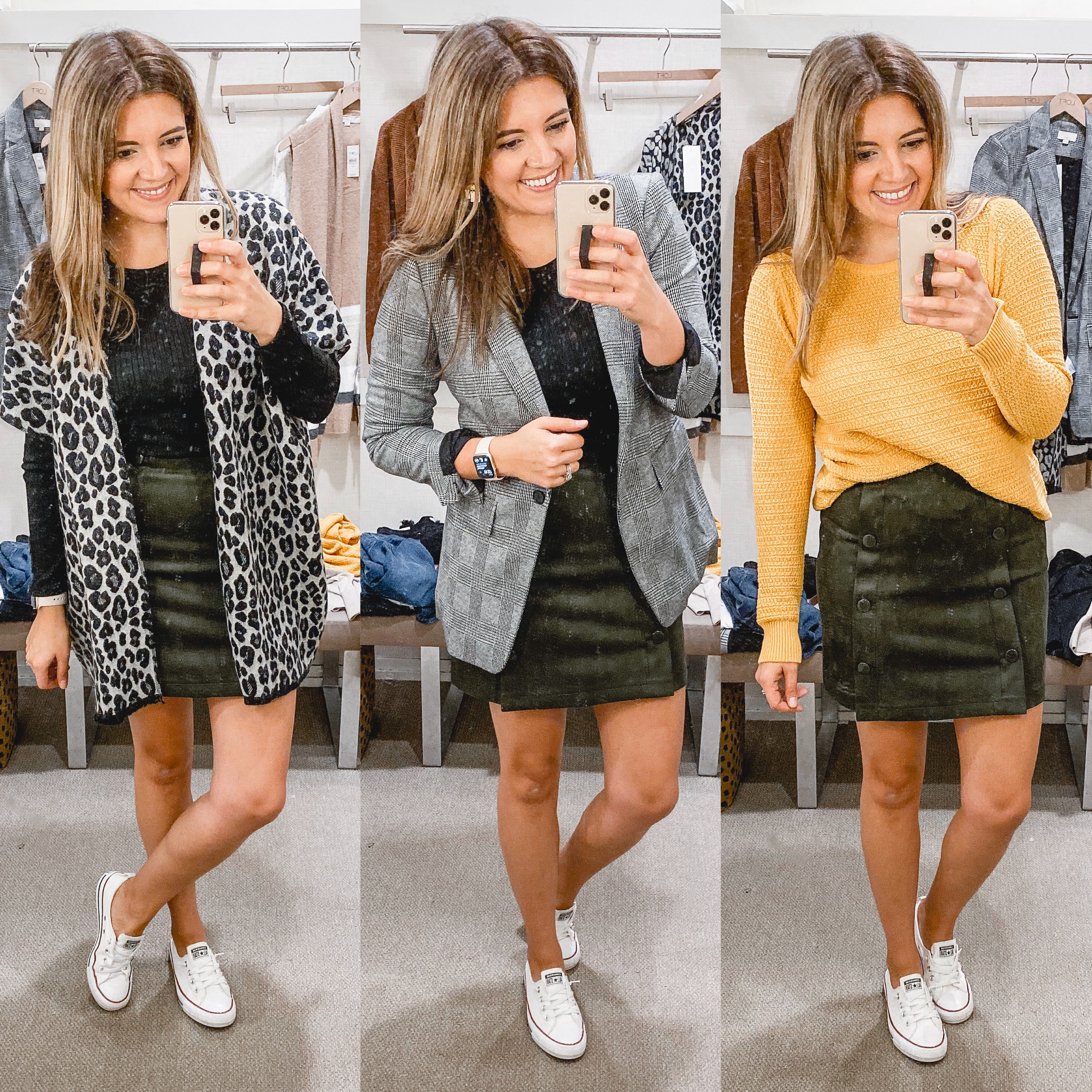 Richmond Virginia blogger, Lauren Dix, shares a loft fall capsule wardrobe and try on. See over 30 Loft fall outfits here!