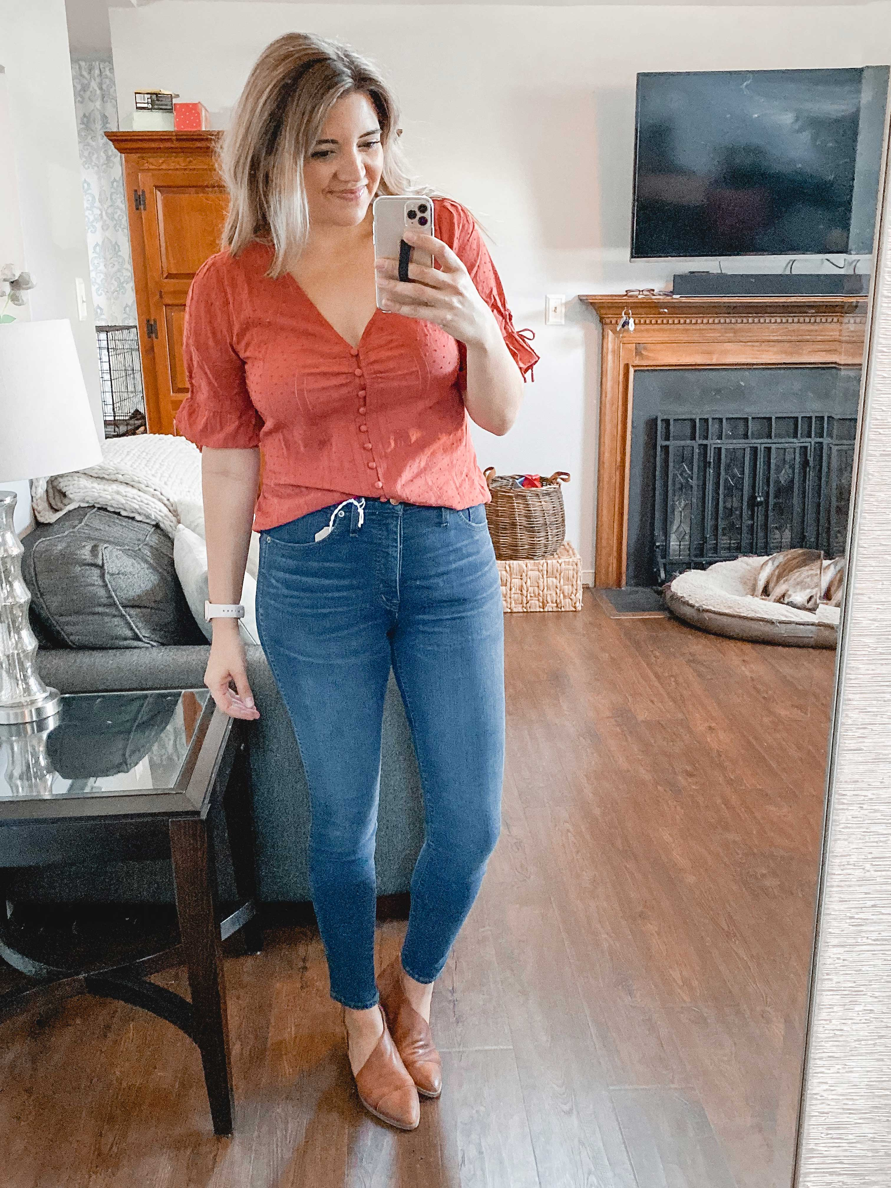 Virginia blogger, Lauren Dix, shares a Madewell try on session from October 2019. See all her favorite Madewell picks all currently on sale!
