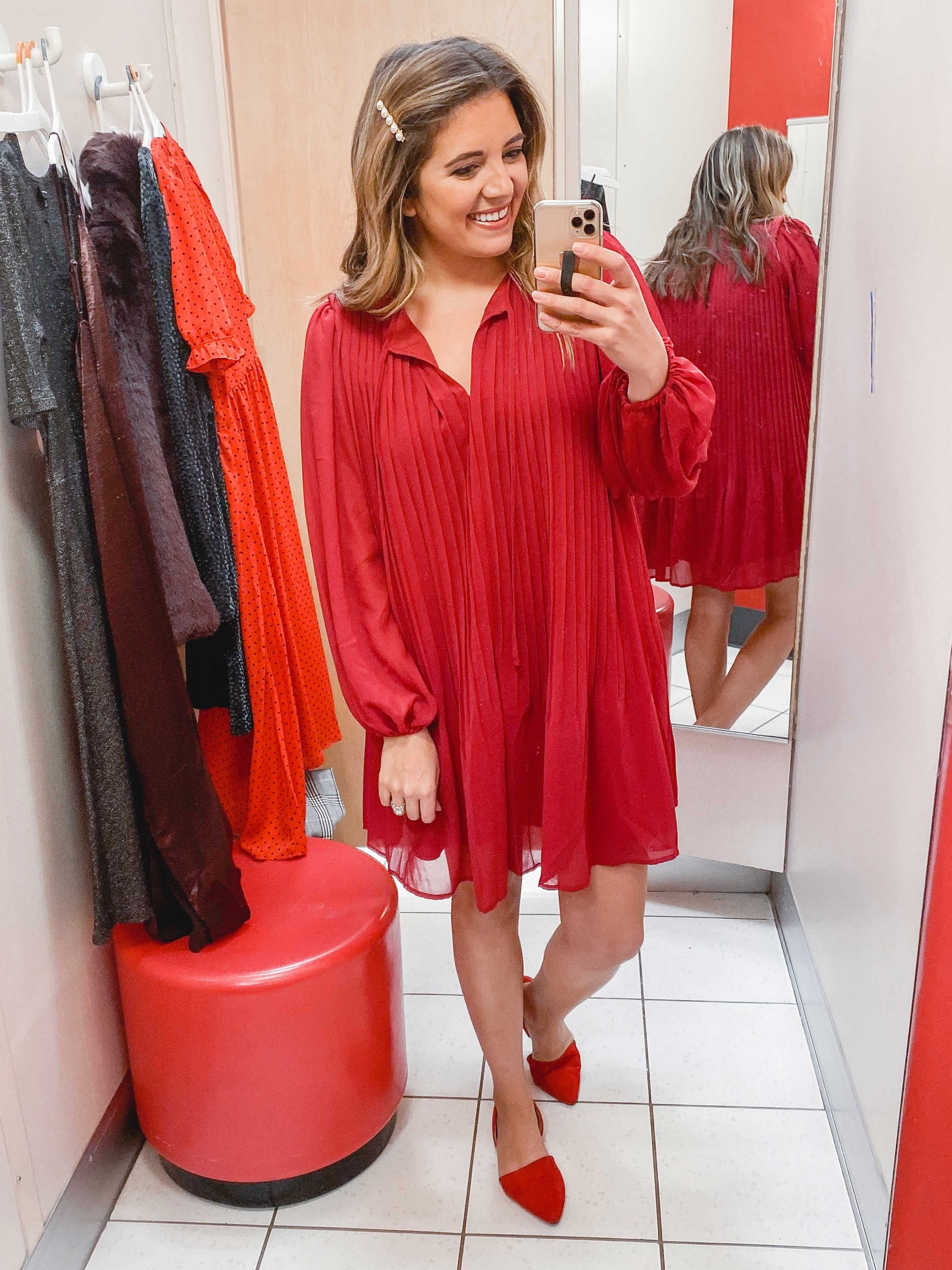Virginia blogger, Lauren Dix, shares over 10 Target holiday outfits and a Target winter try on!
