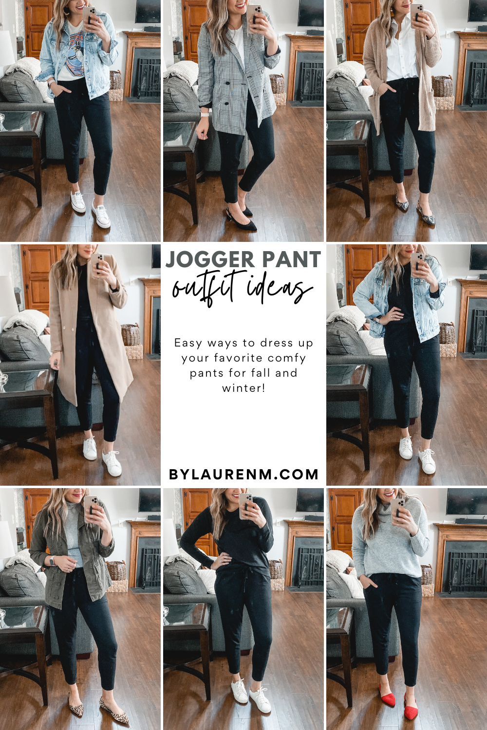 Virginia blogger, Lauren Dix, shares six jogger pants outfits for winter and fall! Check out all the jogger pant outfit ideas!
