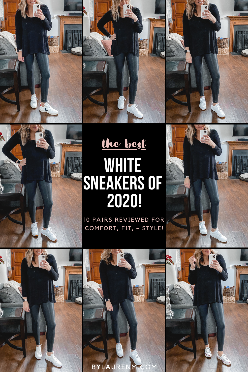 The BEST white sneakers! Lauren Dix reviewed 10 pairs of white sneakers for comfort, fit, and style! See her favorites here!