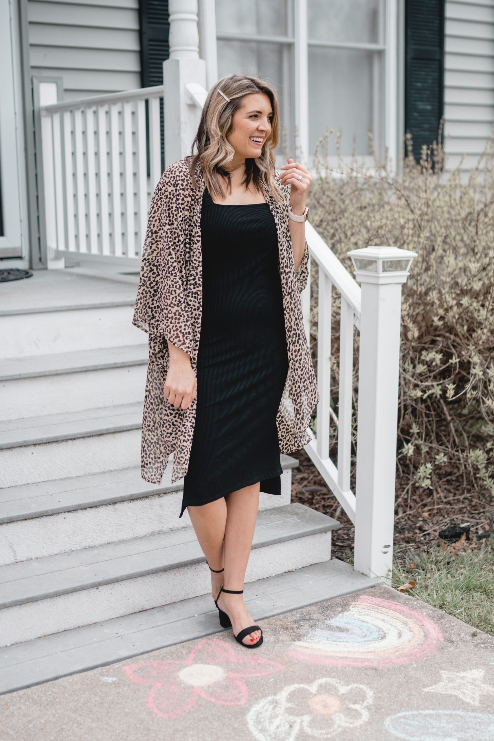 Virginia blogger, Lauren Dix, shares five new kimono outfits for spring! Casual to date night kimono outfits here!