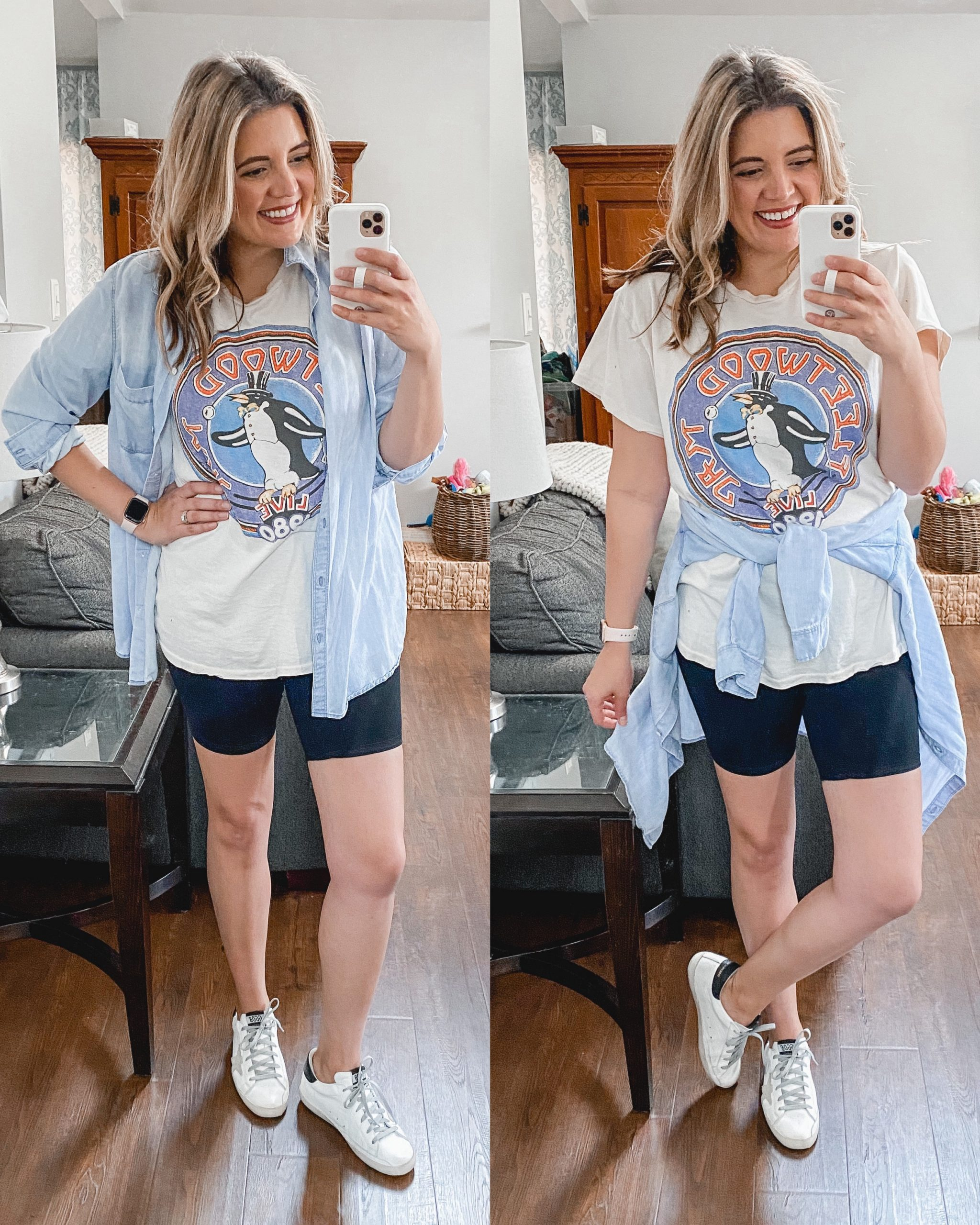 Virginia blogger, Lauren Dix, shares six bike shorts outfits for spring!