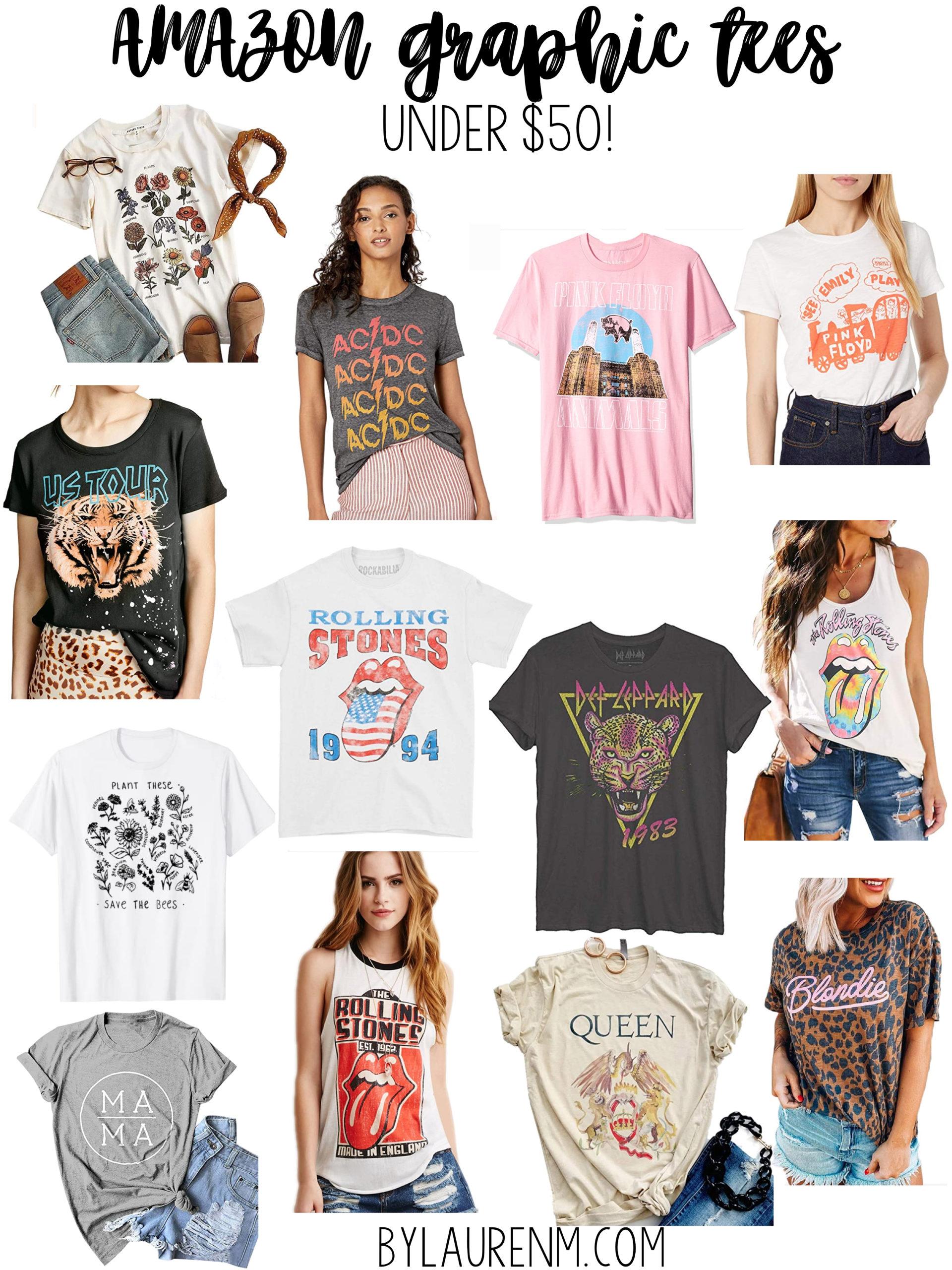 Virginia blogger, Lauren Dix, shares over 15 Amazon graphic tees under $50!