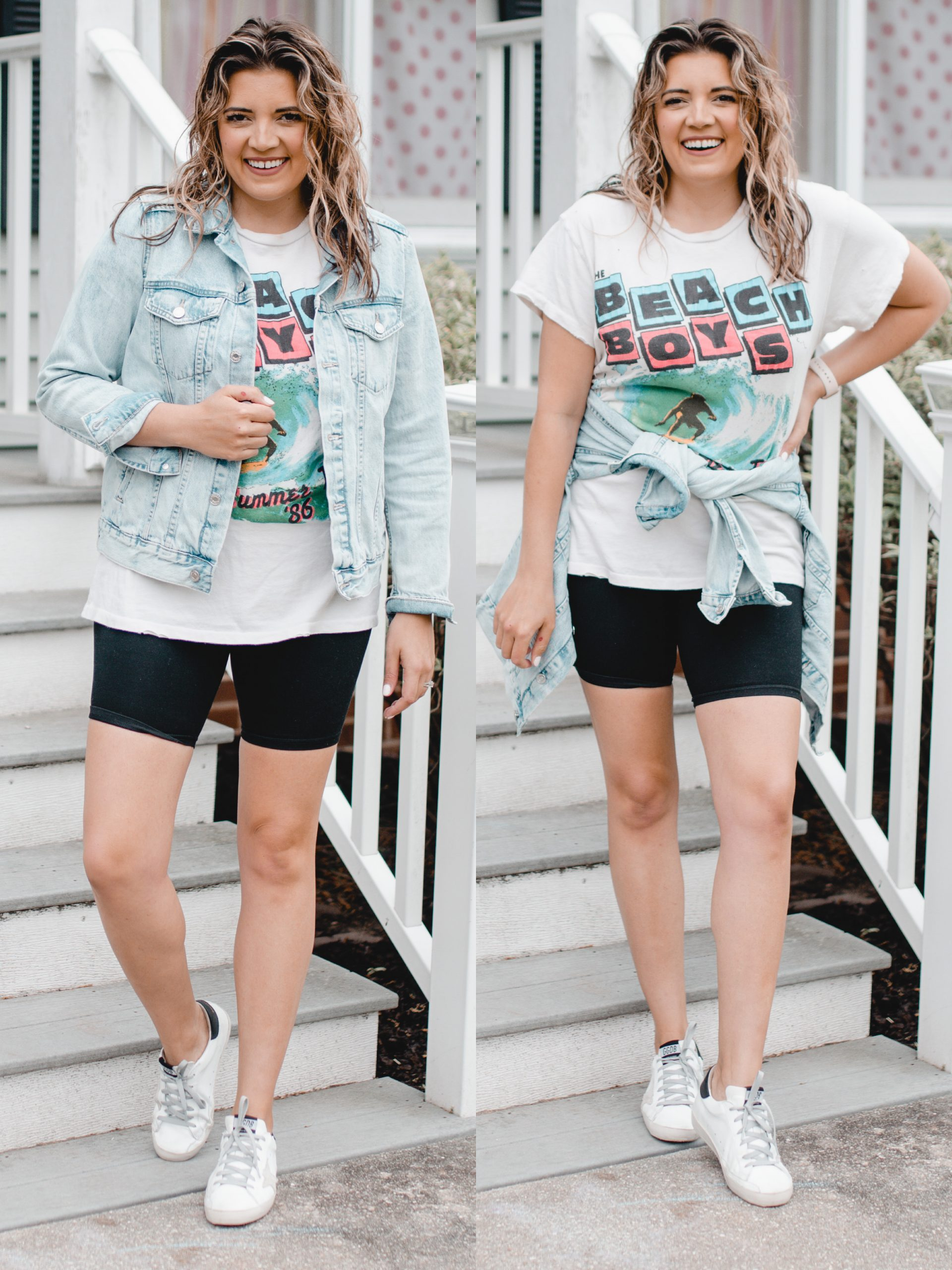 Virginia blogger, Lauren Dix, shares five white sneakers outfit for spring and summer!
