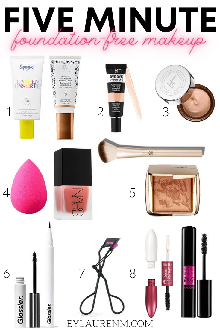 Virginia blogger, Lauren Dix, shares her five minute foundation free makeup routine for summer!