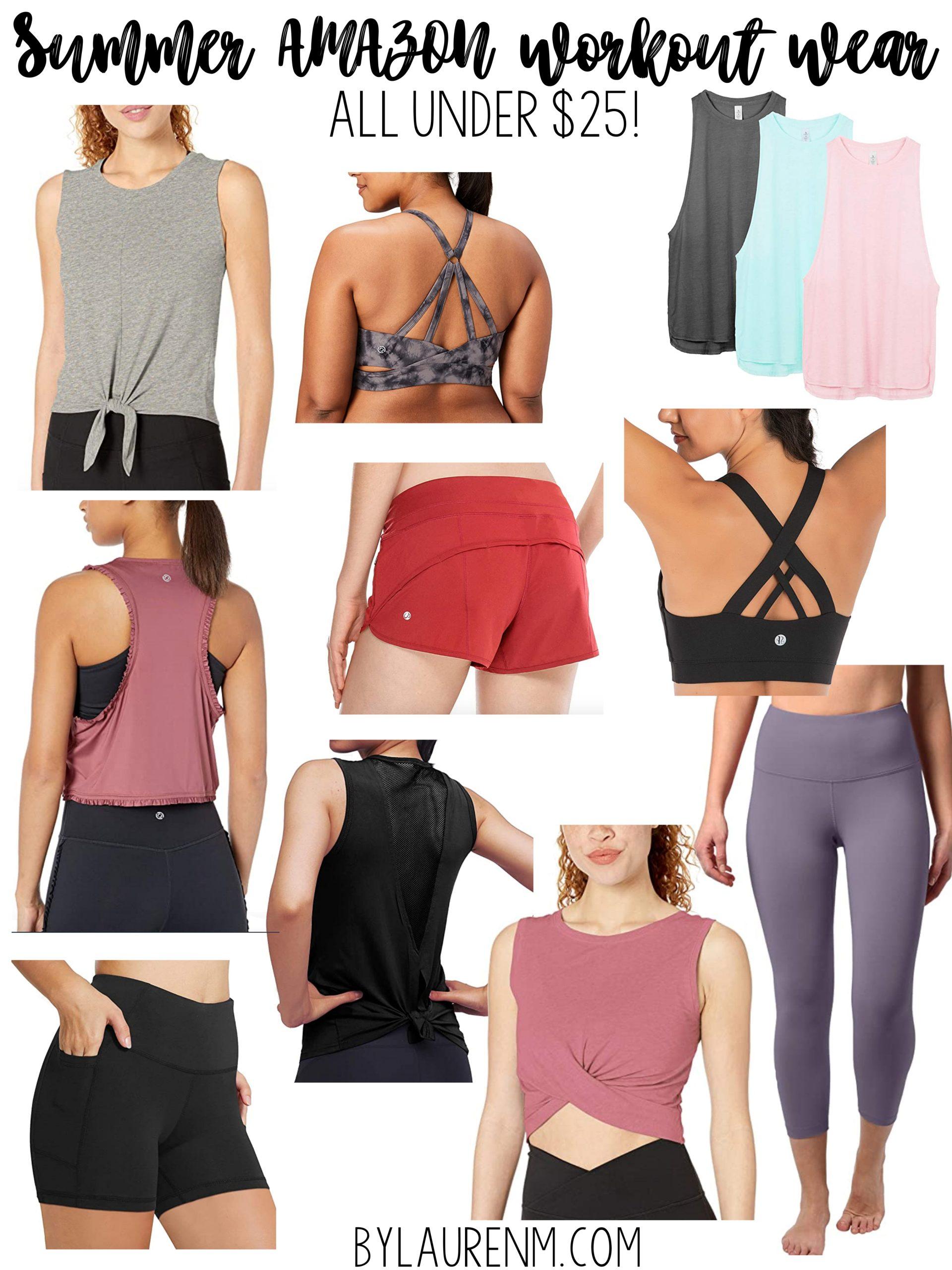 Virginia blogger, Lauren Dix, shares summer Amazon workout clothes under $25!