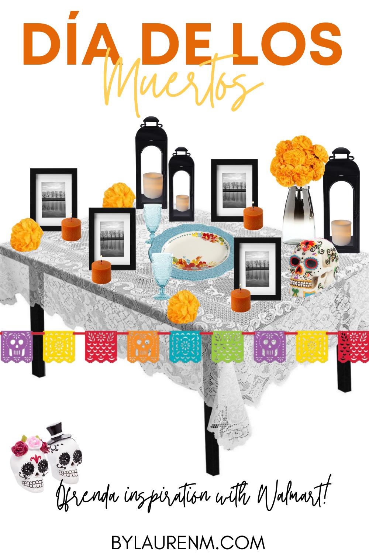 Lauren Dix shares her Día de los Muertos ofrenda inspiration with decor all from Walmart!