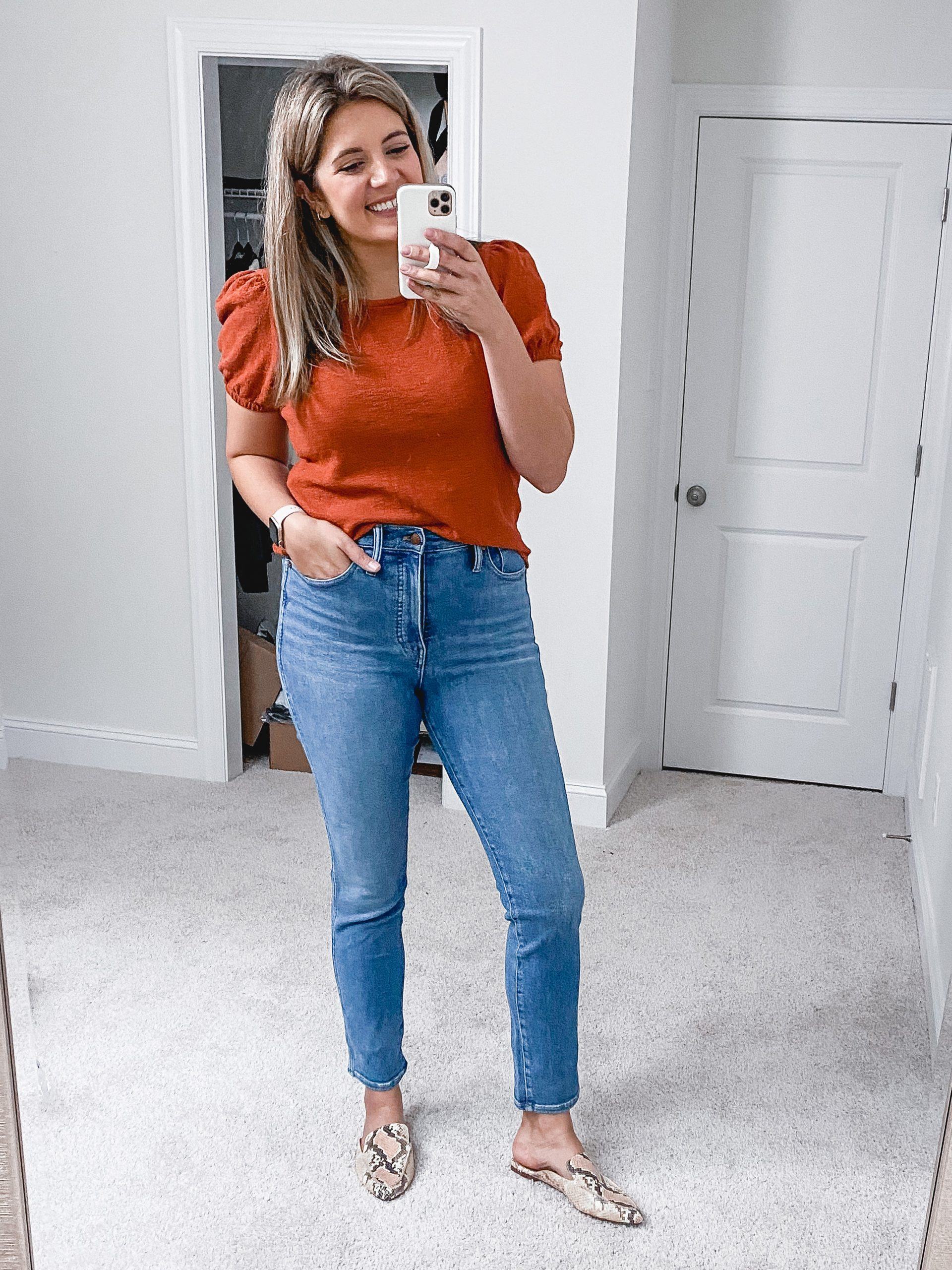 Virginia blogger, Lauren Dix, shares over 10 new Madewell fall arrivals in her fall Madewell try on!