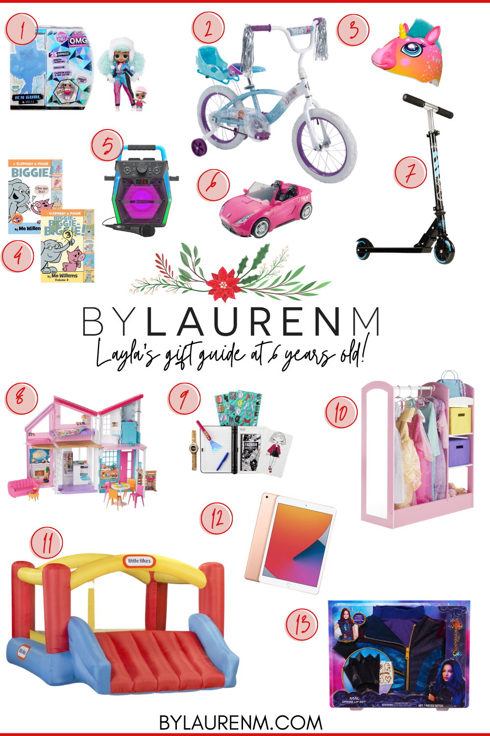 Virginia blogger, Lauren Dix, shares over ten of her daughter's favorite toys and the best gift ideas for 6 year olds!