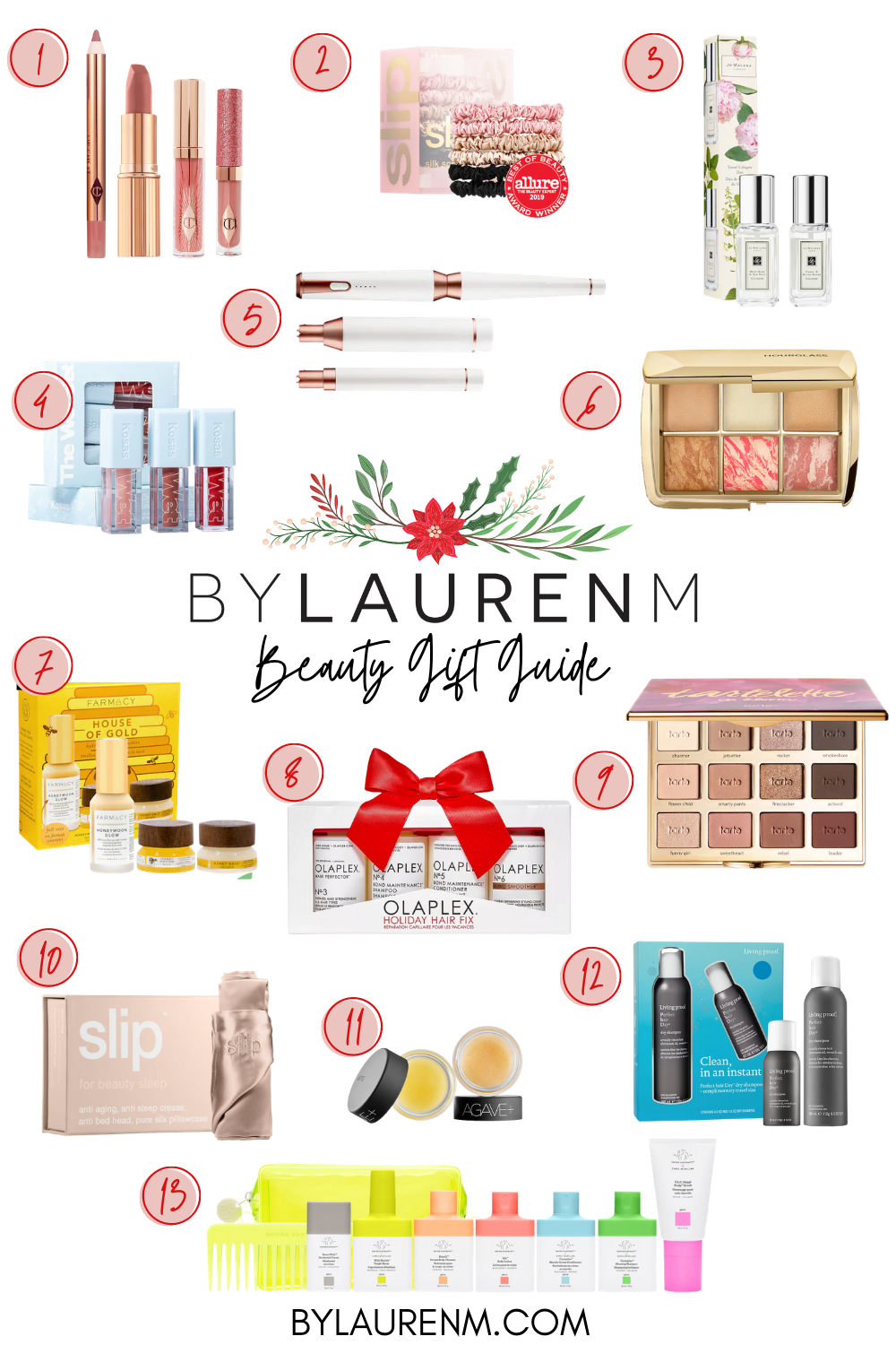Virginia blogger, Lauren Dix, shares her beauty gift guide with over ten beauty gift ideas!