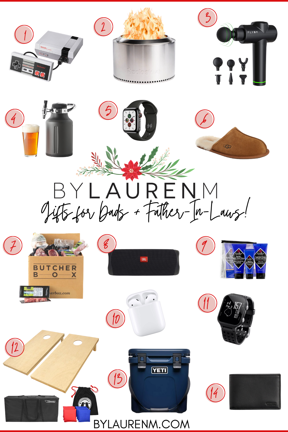 Virginia blogger, Lauren Dix, shares her dad and father in law gift guide with over ten gift ideas for dads in your life!