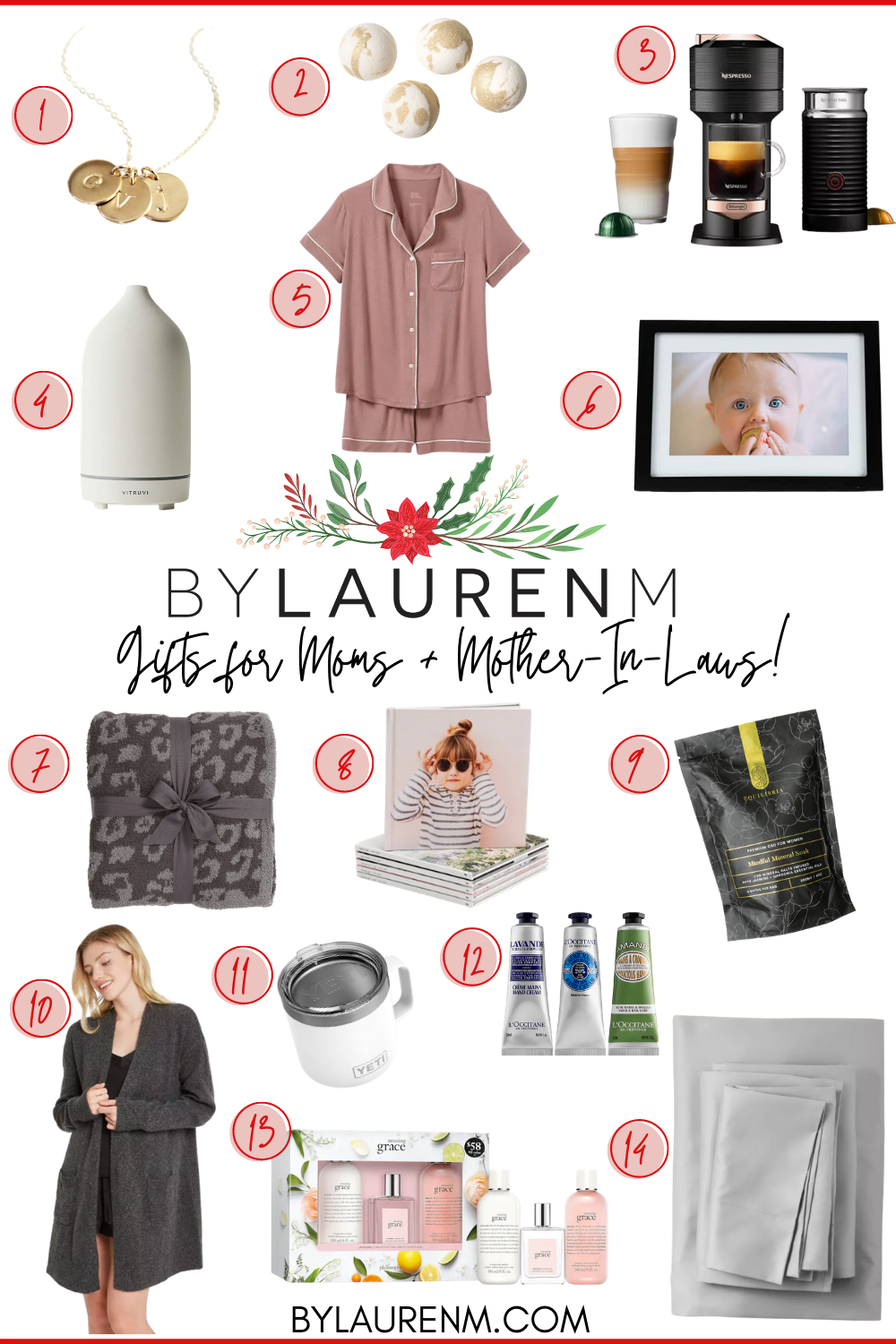 Virginia blogger, Lauren Dix, shares her mom and mother in law gift guide with over ten gift ideas for moms in your life!