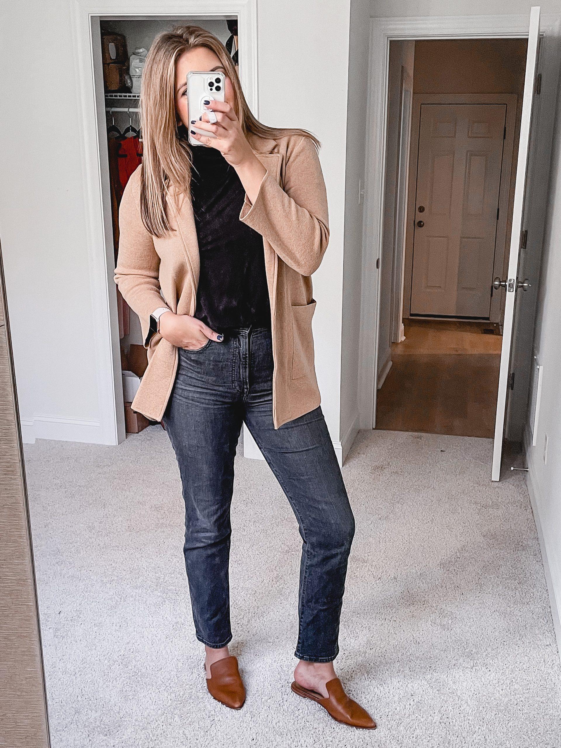 Virginia blogger, Lauren Dix, shares six sweater blazer outfits!