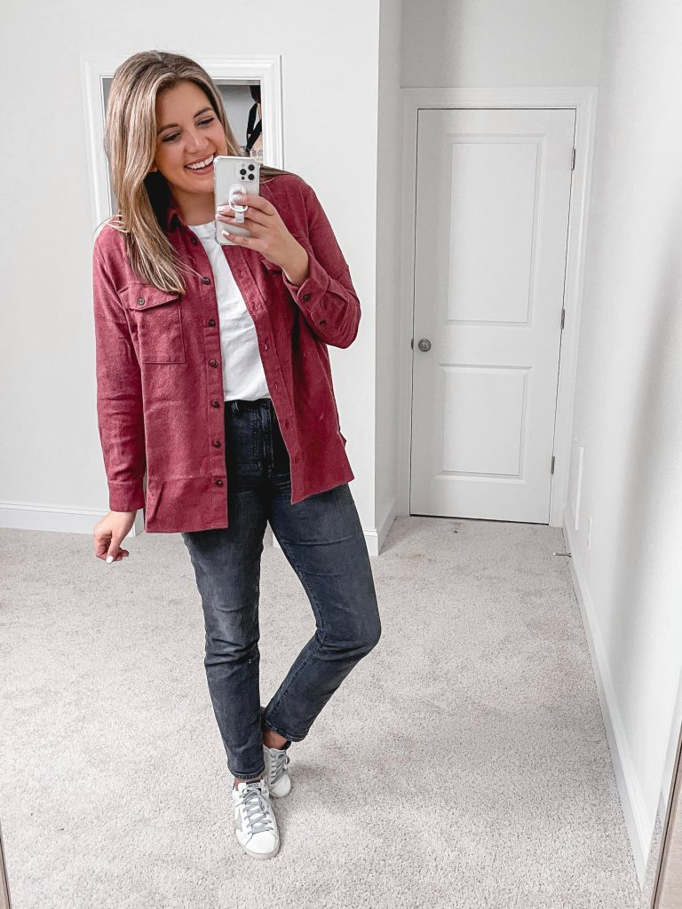 Virginia blogger, Lauren Dix, shares over 10 new Madewell fall arrivals in her new fall Madewell try on!
