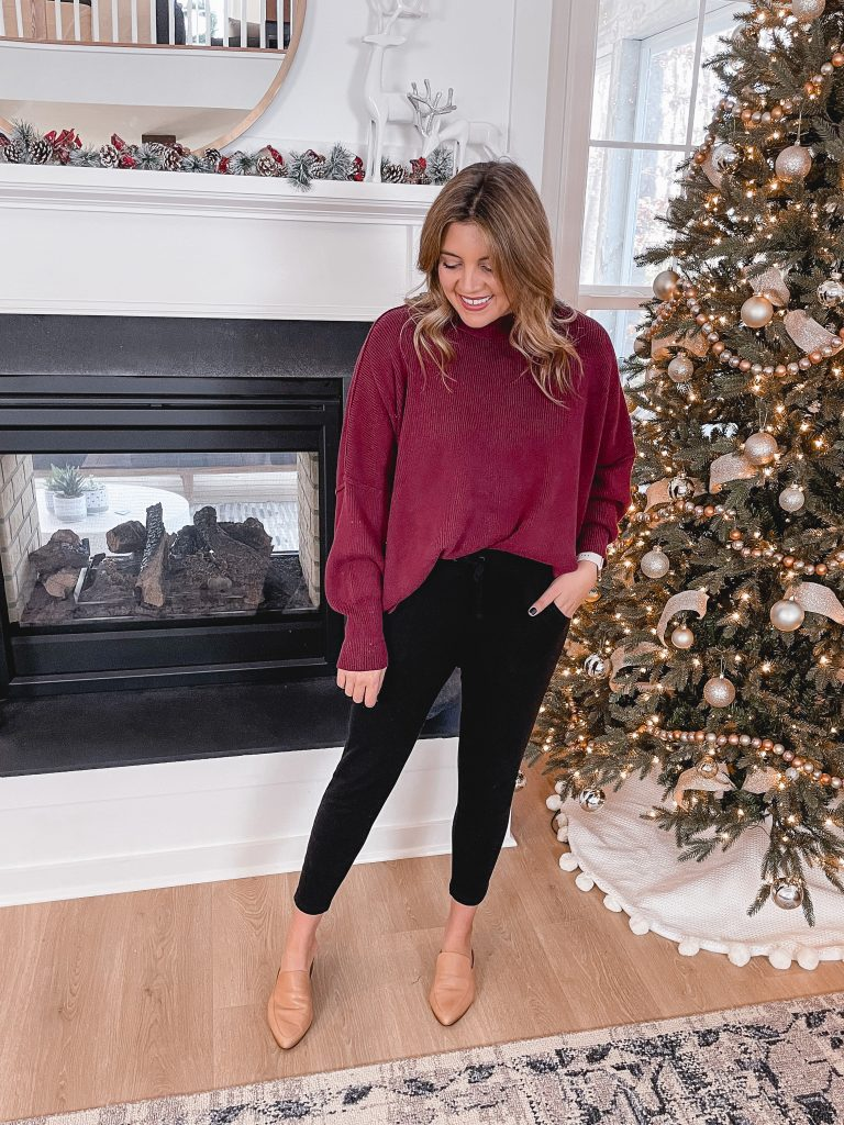 Virginia blogger, Lauren Dix, shares four cozy jogger pants outfits perfect for staying home (or going out!)!
