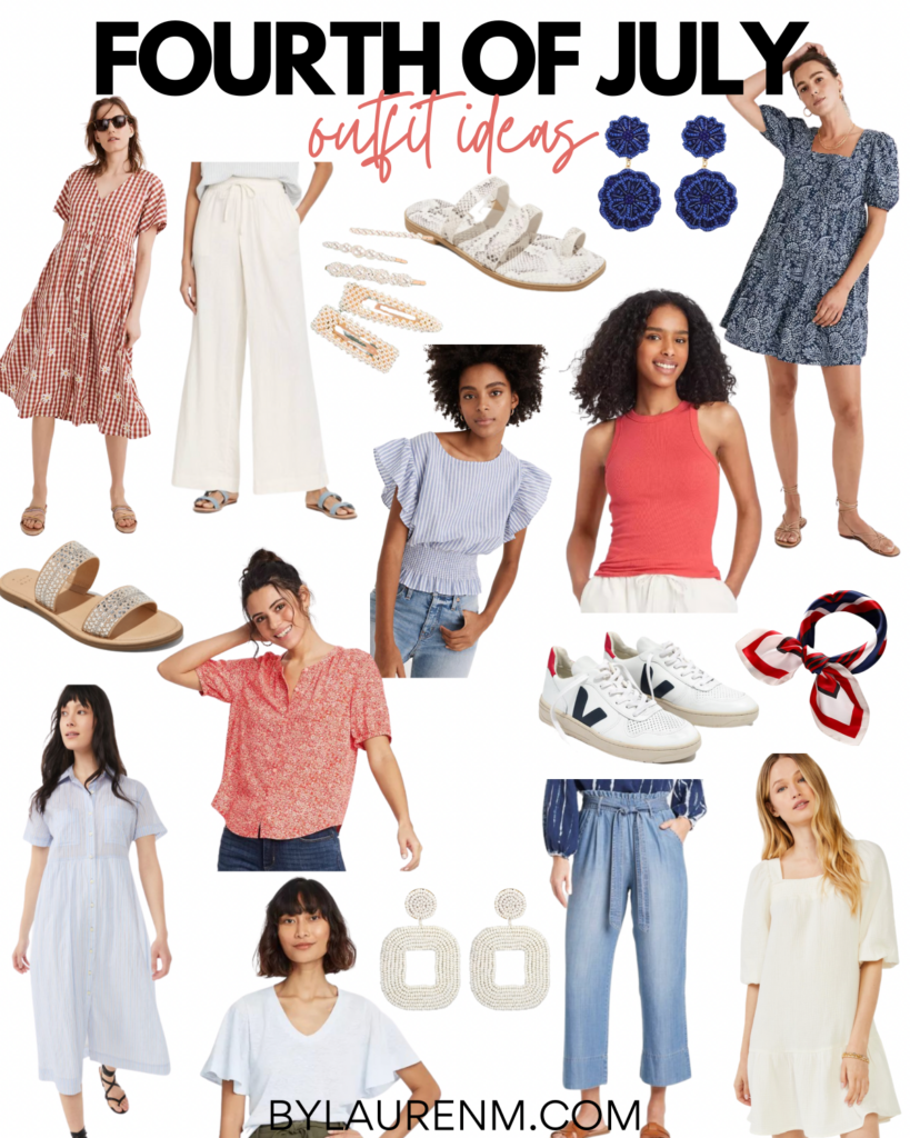 Virginia Blogger Lauren Dix shares red, white, and blue Fourth of July outfits.