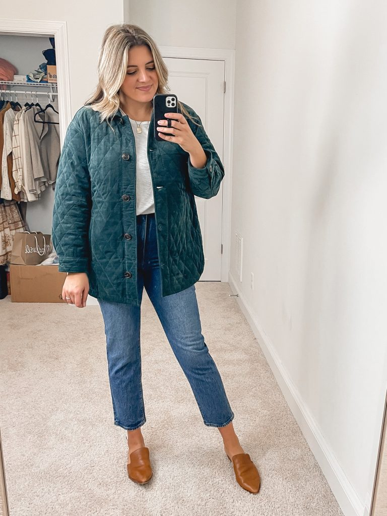 Virginia blogger, Lauren Dix, shares over 10 new fall finds in her Madewell fall try on.