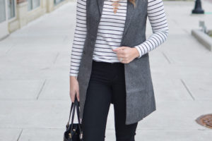Long Gray Vest + Picket Fence Giveaway