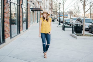 Yellow Top Spring Outfit