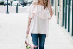 Blush Pink Spring Outfit