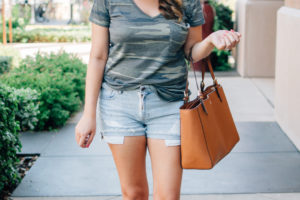 Camo Tee + Cutoffs