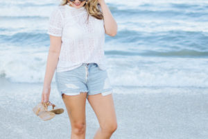 Lace Tee and Cutoffs + Target Giveaway