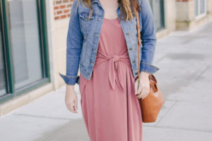 Knotted Midi Dress Outfit