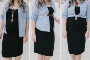 Bump Style: Three Chambray Shirt Pregnancy Outfits
