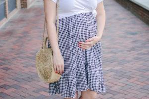 Midi Skirt Pregnancy Style