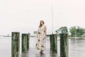 Maternity Style: Floral Maxi Dress