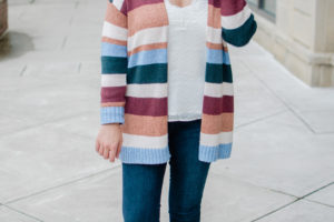 Fall Striped Cardi